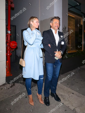 Stock Picture of Robert Herjavec and Kym Johnson at Craig's restaurant