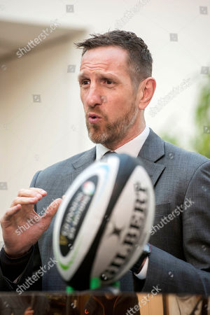 Former England rugby international and TV pundit Will Greenwood pictured at the Guinness bar which was set up at the launch.