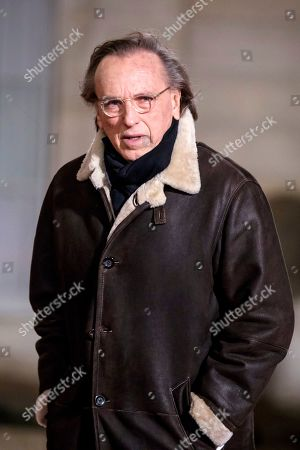 Stock Picture of French movie director Alexandre Arcady arrives for a state dinner hosted by the French President for the Israeli President at the Elysee palace in Paris, France, 23 January 2019. Rivlin is in Paris on an official visit.