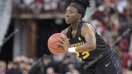 Missouri guard Amber Smith attempts a pass against South Carolina during an NCAA college basketball game, in Columbia, S.C. South Carolina defeated Missouri 79-65