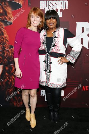 Alicia Witt and Adrienne C. Moore