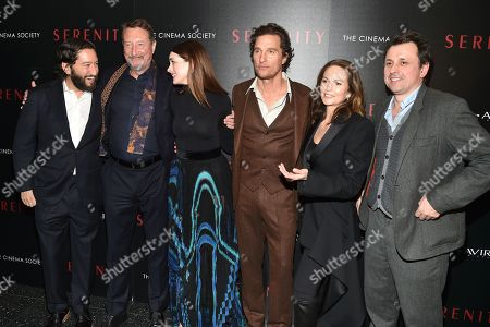 Stock Photo of Greg Shapiro, Steven Knight, Anne Hathaway, Matthew McConaughey, Diane Lane and Guy Heeley