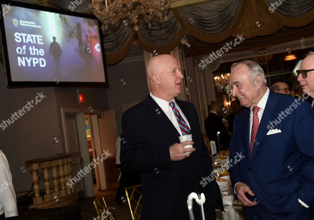 "Stock Image of James O'Neill, William Bratton. NYPD Police Commissioner James O'Neill, left, and former NYPD Police Commissioner William Bratton attend New York City Police Foundation's ""State of the NYPD"" breakfast, in New York. The New York City Police Foundation provides resources and support for innovative NYPD public safety and counterterrorism programs"