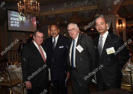 "Andrew Tisch, Ben Tucker, Charles Temel, Scott Mills. Andrew Tisch, Chairman of the Board, New York City Police Foundation, NYPD First Deputy Police Commissioner Ben Tucker, Charles Temel, UBS executive, and Scott Mills, BET Networks' President, and incoming New York City Police Foundation Trustee, left to right, attend New York City Police Foundation's ""State of the NYPD"" breakfast, in New York. The New York City Police Foundation provides resources and support for innovative NYPD public safety and counterterrorism programs"