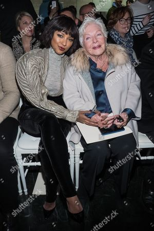 Kat Graham and Line Renaud in the front row