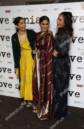 Freida Pinto, Mrunal Thakur, Richa Chadha.