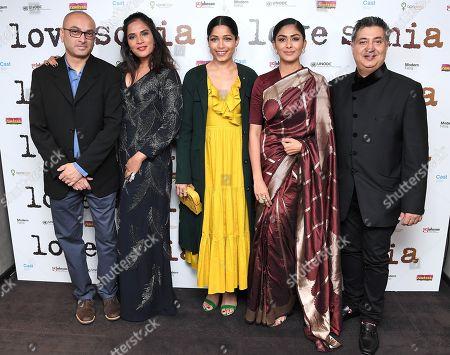 Stock Image of Alkesh Vaja, Richa Chadda, Freida Pinto, Mrunal Thakur and Tabrez Noorani