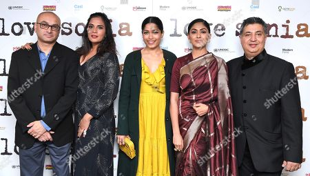 Alkesh Vaja, Richa Chadda, Freida Pinto, Mrunal Thakur and Tabrez Noorani