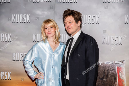 Thomas Vinterberg arrives with his wife Helene Reingaard Neumann at the opening of his new movie Kursk at the Imperial Cinema in Copenhagen, Denmark, 23 January 2019.