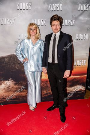 Stock Image of Thomas Vinterberg arrives with his wife Helene Reingaard Neumann at the opening of his new movie Kursk at the Imperial Cinema in Copenhagen, Denmark, 23 January 2019.