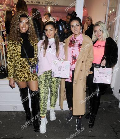 Stock Photo of Four of Diamonds - Yasmin Lauryn, Caroline Alvares, Sophia Saffarian and Lauren Rammell