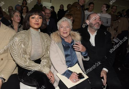 Actress Katerina ' Kat Graham, Line Renaud and producer Thierry Suc in the front row