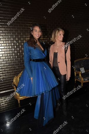 Miss France 2019 Vaimalama Chaves and CEO of Miss France Company Sylvie Tellier in the front row