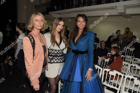 Sylvie Tellier, Miss France and Miss Universe 2016 Iris Mittenaere and Miss France 2019 Vaimalama Chaves in the front row