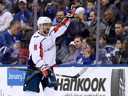 Editorial image of Capitals Maple Leafs Hockey, Toronto, Canada - 23 Jan 2019
