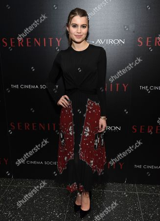 """Sami Gayle attends a special screening of """"Serenity"""" at the Museum of Modern Art, in New York"""