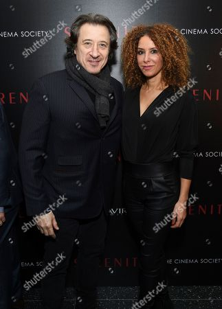 "Stock Photo of Federico Castelluccio, left, and guest attend a special screening of ""Serenity"" at the Museum of Modern Art, in New York"