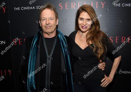 """Simon Kirke, Maria Angelica Kirke. Simon Kirke and wife Maria Angelica Kirke attend a special screening of """"Serenity"""" at the Museum of Modern Art, in New York"""