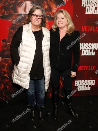 "Rosie O'Donnell, Kate Mulgrew. Rosie O'Donnell, left, and Kate Mulgrew, right, attend Netflix's ""Russian Doll"" season one premiere at Metrograph, in New York"