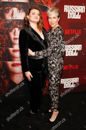 "Leslye Headland, Rebecca Henderson. Leslye Headland, left, and Rebecca Henderson, right, attend Netflix's ""Russian Doll"" season one premiere at Metrograph, in New York"