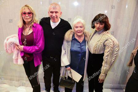 Amanda Lear, Jean Paul Gaultier, Line Renaud, Katerina ' Kat Graham in the front row