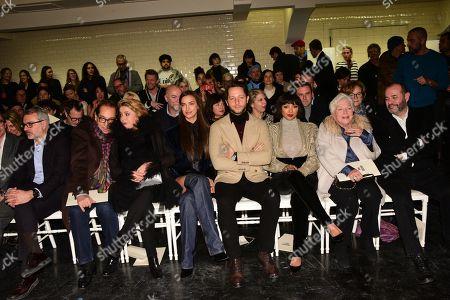 Catherine Deneuve, Irina Shayk, Derek Blasberg, Katerina ' Kat Graham, Line Renaud in the front row