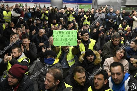 Taxi drivers protest, Spain