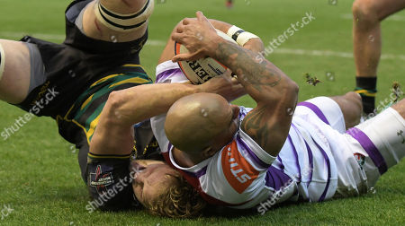 Editorial image of Northampton Saints v Leicester Tigers, Premiership Rugby Cup, Rugby Union, Franklin's Gardens, Northampton, UK - 26 Jan 2019