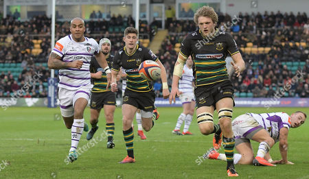 Editorial photo of Northampton Saints v Leicester Tigers, Premiership Rugby Cup, Rugby Union, Franklin's Gardens, Northampton, UK - 26 Jan 2019
