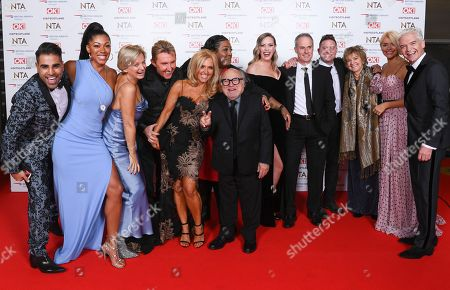 Danny DeVito with Dr Zoe Williams, Alice Beer, Steve Wilson, Dr Ranj, Martin Lewis, Phil Vickery, Lisa Snowdon, Nik Speakman and Eva Speakman, Rochelle Humes and Dr Chris Steele from 'This Morning'