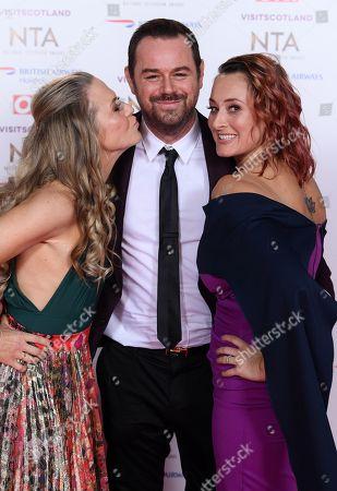 Kellie Bright, Danny Dyer and Luisa Bradshaw White