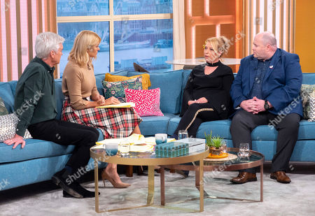 Stock Picture of Phillip Schofield, Holly Willoughby, Denise Fergus and Stuart Fergus
