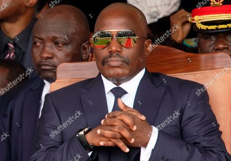 Outgoing president Joseph Kabila sits during the inauguration ceremony for Congolese President Felix Tshisekedi in Kinshasa, Democratic Republic of the Congo,. Tshisekedi won an election that raised numerous concerns about voting irregularities amongst observers as the country chose a successor to longtime President Kabila