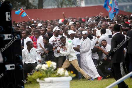 Supporters of Congolese President Felix Tshisekedi storm the Palais de la Nation for his inauguration in Kinshasa, Democratic Republic of the Congo,. Tshisekedi won an election that raised numerous concerns about voting irregularities amongst observers as the country chose a successor to longtime President Joseph Kabila