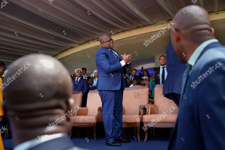 Congolese President Felix Tshisekedi stands before being sworn in in Kinshasa, Democratic Republic of the Congo,. Tshisekedi won an election that raised numerous concerns about voting irregularities amongst observers as the country chose a successor to longtime President Joseph Kabila