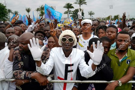 Supporters of Congolese President elect Felix Tshisekedi gather at the Palais de la Nation for his inauguration in Kinshasa, Democratic Republic of the Congo,. Tshisekedi won an election that raised numerous concerns about voting irregularities amongst observers as the country chose a successor to longtime President Joseph Kabila