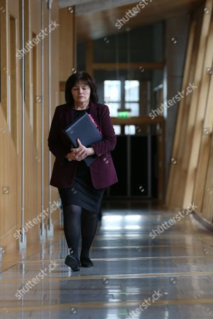 Scottish Parliament First Minister's Questions - Jeane Freeman, Cabinet Secretary for Health and Sport, makes her way to the Debating Chamber