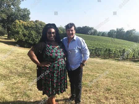 Alison Hammond with celebrity chef Jean-Christophe Novelli in beautiful Bordeaux