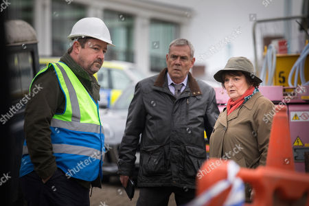 Stock Image of Daniel Ryan as Alec Sidden, Jon Morris as DC Kenny Lockhart and Brenda Blethyn as DCI Vera Stanhope.