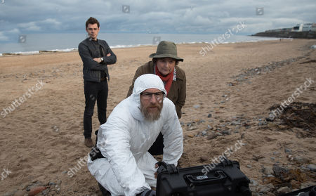 Kenny Doughty as DS Aiden Healy, Brenda Blethyn as DCI Vera Stanhope and Paul Kaye as Malcolm Donahue.