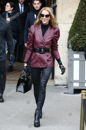 Editorial image of Celine Dion out and about, Paris, France - 24 Jan 2019