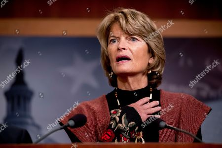 Sen. Lisa Murkowski, R-Alaska, speaks at a news conference after two Senate bills to ending the partial government shutdown failed on Capitol Hill in Washington
