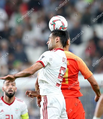 Omid Ebrahimi Zarandini of Islamic Republic of Iran in action during the 2019 AFC Asian Cup quarter final round match between China and Islamic Republic of Iran in Abu Dhabi, United Arab Emirates, 24 January 2019.