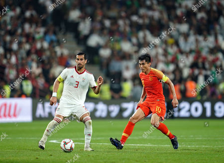 Ehsan Hajsafi of Iran during China v Iran at the Mohammed Bin Zayed Stadium in Abu Dhabi, United Arab Emirates, AFC Asian Cup, Asian Football championship