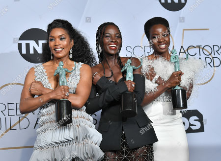 Angela Bassett, Lupita Nyong'o and Danai Gurira - Outstanding Performance by a Cast in a Motion Picture - 'Black Panther'