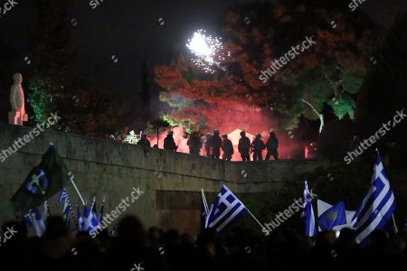 Editorial photo of Protest against the Prespes agreement between Athens and Skopje, Greece - 24 Jan 2019
