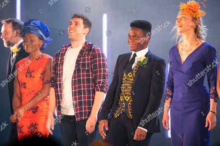 Rakie Ayola (Grace), Billy Cullum (Alex), Tyrone Huntley (Obi) and Johanne Murdock (Diane) during the curtain call