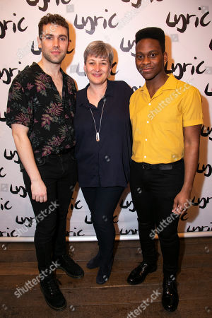 Stock Picture of Billy Cullum (Alex), Sian Alexander (Executive Director) and Tyrone Huntley (Obi)