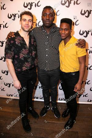Stock Image of Billy Cullum (Alex), Kele Okereke (Author) and Tyrone Huntley (Obi)