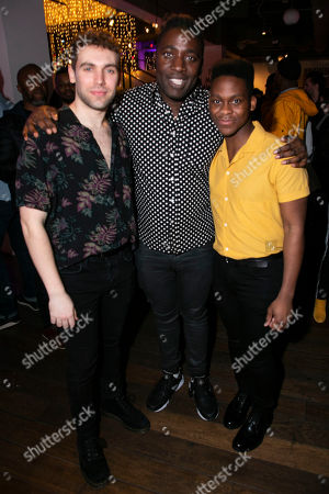 Billy Cullum (Alex), Kele Okereke (Author) and Tyrone Huntley (Obi)